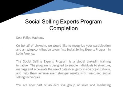 Certificado Social Selling Experts
